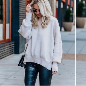 Free people east street tunic sweater medium